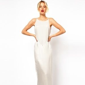 MANGO Silk Maxi Dress